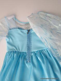 Kissankäpälä: Pitsivetoketju Elsa-mekkoon, lace zipper to Elsa d...