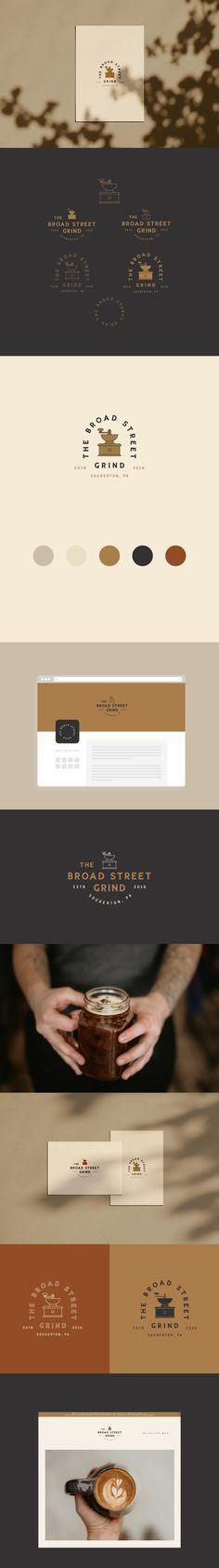 The Broad Street Grind Brand Identity Design Corporate Design, Brand Identity Design, Brand Design, Ci Design, Graphic Design, Coffee Shop Branding, Inspiration Logo Design, Best Coffee Shop, Shops