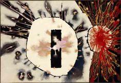 "Robert McChesney, Arena #55, 1961, Sand and enamel on canvas, 1961, 48"" x 69"""