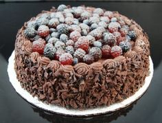 Fake Food Chocolate Cake With Assorted Berries Sweet Dough, Fake Cake, Fake Food, Sweet And Salty, Food Items, Chocolate Cake, Acai Bowl, Berries, Bakery