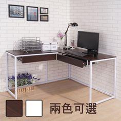柏肯防潑水附孔蓋雙抽屜L型工作桌/電腦桌(寬140*120cm)-momo購物網