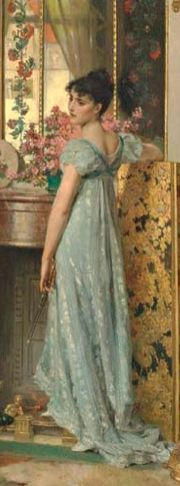 A Letter of Importance by Carl Heinrich Hoff. 1878, (detail).