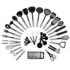 Amazon.com: NexGadget Premium Kitchen Utensils 38 Pieces Kitchen Utensils Sets…