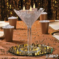 Now all you need is a giant olive. Go big with these large Martini glasses at your next party. Shaken or stirred your guests will love not only the cosmo, . Martini Glass Centerpiece, Wine Glass Centerpieces, Centerpiece Decorations, Great Gatsby Decorations, 21st Birthday Centerpieces, Birthday Party Decorations, Wedding Centerpieces, Casino Themed Centerpieces, Masquerade Party Centerpieces