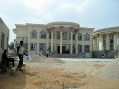 Mansion under construction in Nigeria
