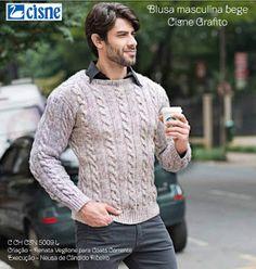 Artesanato com amor...by Lu Guimarães: Receita: Blusa masculina de Tricô com Tranças