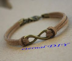 Infinity bracelets bridesmaid gifts silver tone by eternalDIY, $0.59