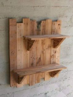 Reclaimed wooden home decor. Pallet shelves. | bookcases, shelving units | Oshawa / Durham Region | Kijiji