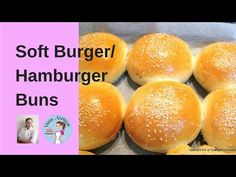 These soft burger buns are the best recipe you will ever make the next time you plan a burger feast. They are soft, fluffy, golden homemade hamburger buns Soft Burger Buns Recipe, Best Burger Buns, Gluten Free Hamburger Buns, Homemade Hamburger Buns, Homemade Hamburgers, Homemade Biscuits, Homemade Breads, Food Network Recipes, Breads