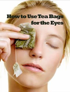 Using tea bags on your eyes is a popular home remedy. Tea bags may help to improve the appearance of your eyes by reducing dark circles, puffiness, and redness. Reduce Dark Circles, Dark Circles Under Eyes, Dark Under Eye, Irritated Eyes Remedies, Eye Irritation Remedies, Black Eye Remedies, Natural Remedies, Natural Treatments