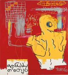 Jean Michel Basquiat, Krong Thip (Torso), 1983