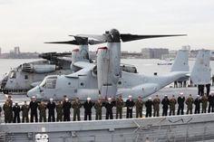 US Marine Osprey on board USS New York LPD-21