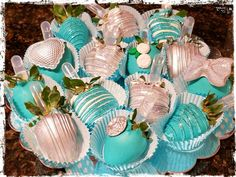 Pretty berries!!!! Bling! Turquoise and silver!