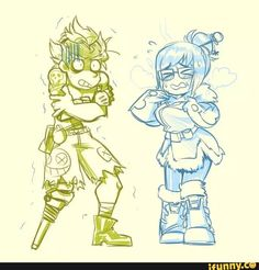 Image result for junkrat and mei