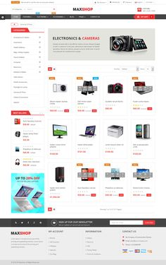 Buy MaxShop - Fastest & Responsive Multipurpose OpenCart 3 & Theme by magentech on ThemeForest. Compatible With OpenCart Multivendor Marketplace Compatibility Maxshop is. Flat Web Design, Ecommerce Website Design, Web Ui Design, Page Design, Design Design, Website Design Inspiration, Website Design Layout, Web Layout, Design Thinking