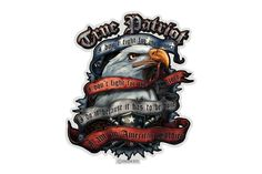 True Patriot I Am An American Soldier Reflective Decal from Mustang Loot