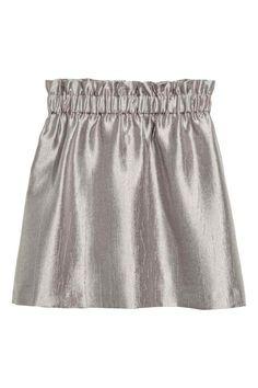 Gyűrt szoknya - Ezüst - | H&M HU