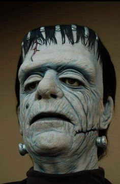 Classic Monster Movies, Classic Horror Movies, Classic Monsters, Horror Icons, Horror Films, Horror Art, Monster Mask, Frankenstein's Monster, Scary Halloween Masks