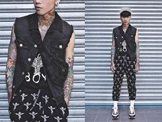 IVAN Chang Black Vest, Black Pants, Nike Runners, Saints And Sinners, Boy London, Harajuku Fashion, Uniqlo, Black Tops, Nike Air Max