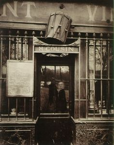 Eugene Atget, (perhaps inadvertently) shoots himself