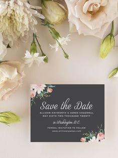 Blossoming Love Wedding Save the Date Cards Vintage Save The Dates, Rustic Save The Dates, Floral Save The Dates, Wedding Save The Dates, Blue Country Weddings, Country Wedding Colors, Save The Date Magnets, Save The Date Cards, Wedding Engagement