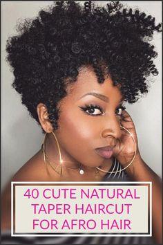 Natural Taper Haircuts #naturalhairstylesshort