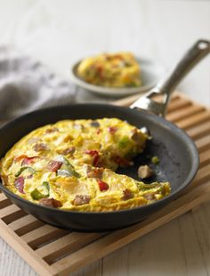 Veggie Frittata...protein may make it easier to peel off pounds.