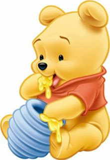 """Baby Winnie the Pooh Eating Honey. """"Winnie the Pooh and Friends"""""""