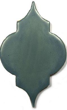 Grey Ceramic Handmade Tile - Marrakesh, glaze  Dove  by DeKa Ceramic Tiles