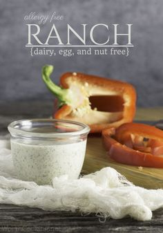Allergy-friendly Homemade Ranch Dressing Recipe - dairy-free, egg-free and nut-free!  Great for salad, as a dip, or even a spread for sandwiches!