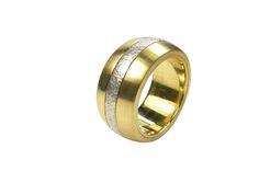 Ring Twist Mittelteil drehbar  Gold 750