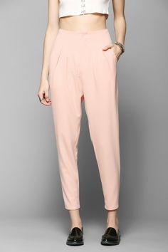 Pins And Needles High-Waist Pleated Trouser Pant