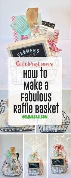 How To Make A Fabulous Raffle Basket. Easy steps to create a beautiful gift basket. Create a gorgeous raffle basket with these simple steps. Holiday Gift Baskets, Themed Gift Baskets, Wine Gift Baskets, Theme Baskets, Creative Gift Baskets, Picnic Baskets, Creative Gifts, Fundraiser Baskets, Raffle Baskets