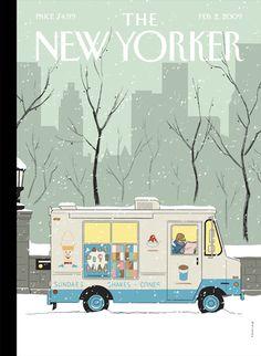 "Adrian Tomine ""Winter Break"", The New Yorker, February 2, 2009"
