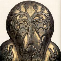 Чаша серебряная, ложчатая - козероги у дерева. VII-VIII в. Государственный Эрмитаж. Деталь