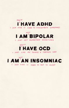 There are a few people in the world who suffer from the above (except ADHD, we all have that), but I believe this applies to most of us