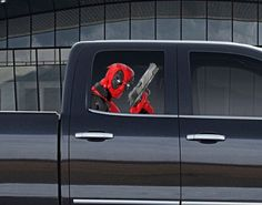 Vinyl Car Window Full Color Graphics Decal Deadpool with Gun Sticker #Unbranded