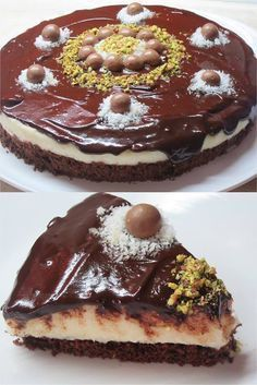 Greek Sweets, Greek Desserts, Greek Recipes, Chocolate Desserts, Chocolate Cake, Coconut Candy, Macaron Recipe, Something Sweet, Brunch Recipes