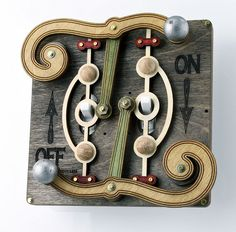 Fulcrum Light Switch Plate by GreenTreeJewelry on Etsy, $49.95