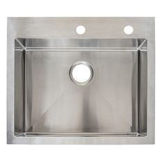 Franke Fast-in 25.5-in x 22.5-in Stainless Steel Single-Basin Drop-in or Undermount 1-Hole Commercial Kitchen Sink