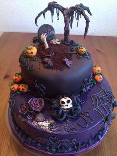 schaurig-schöne #Halloweentorte †††††