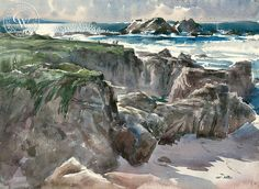 A View from the Bluff – California Watercolor