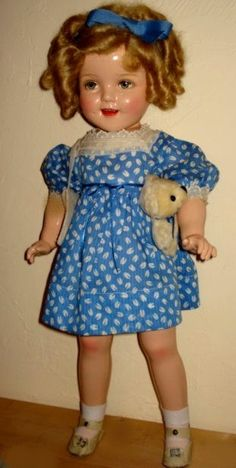 """Vintage Ideal composition """"Shirley Temple"""" doll."""