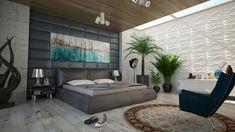 140 Stylish Bedroom Design Ideas - Home Furniture Decor, Bedroom Furniture, Bedroom Wall, Bedroom Decor, Bedroom Ideas, Bed Wall, Bed Room, Bedroom Artwork, Bedroom Rugs