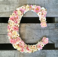 Carta floral flor letra letra letra de vivero por TheBullBungalow