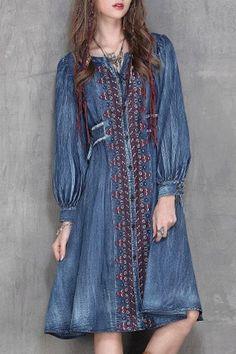 zaful denim dress