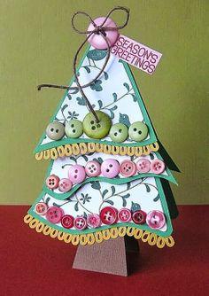 MENTŐÖTLET - kreáció, újrahasznosítás: Karácsonyfák gombokból