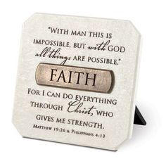 Faith White Resin Plaque With Bronze Title Bar And Scripture Verse LCP - http://livinglds.com/faith-white-resin-plaque-with-bronze-title-bar-and-scripture-verse-lcp-2/  #LDS #LDSGems #Mormon