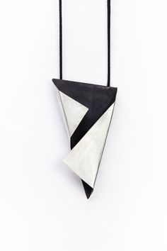 nice Geometric silver pendant by Mirojewelery on Etsy. Wooden Jewelry, Leather Jewelry, Clay Jewelry, Metal Jewelry, Pendant Jewelry, Jewelry Art, Silver Jewelry, Geek Jewelry, Gothic Jewelry