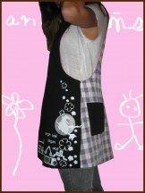pichi_maestra_bixintxo_alboa Alexander Mcqueen Scarf, Vest, Denim, Jackets, Club, Ideas, Fashion, Lab Coats, Apron Patterns